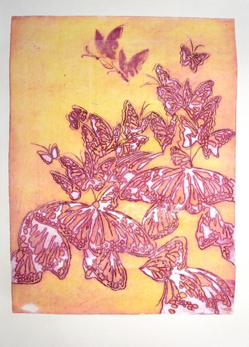 Etching, print making, Migration