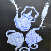 Mysterious Order, silk screen printing on metal
