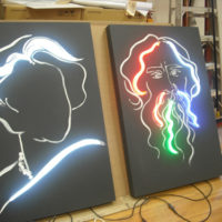 Neon Portraits, 48x36 inches