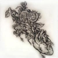 The Evolving Gardener, sculpture, etching