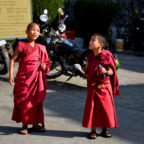 Monks Blowing Bubbles, photograph taken in Dharmshala Monastery, India