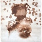 Bubbles, UV etching print on paper, by Tania Sen
